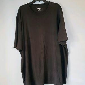 Claiborne ribbed short sleeve shirt black 3 XLT